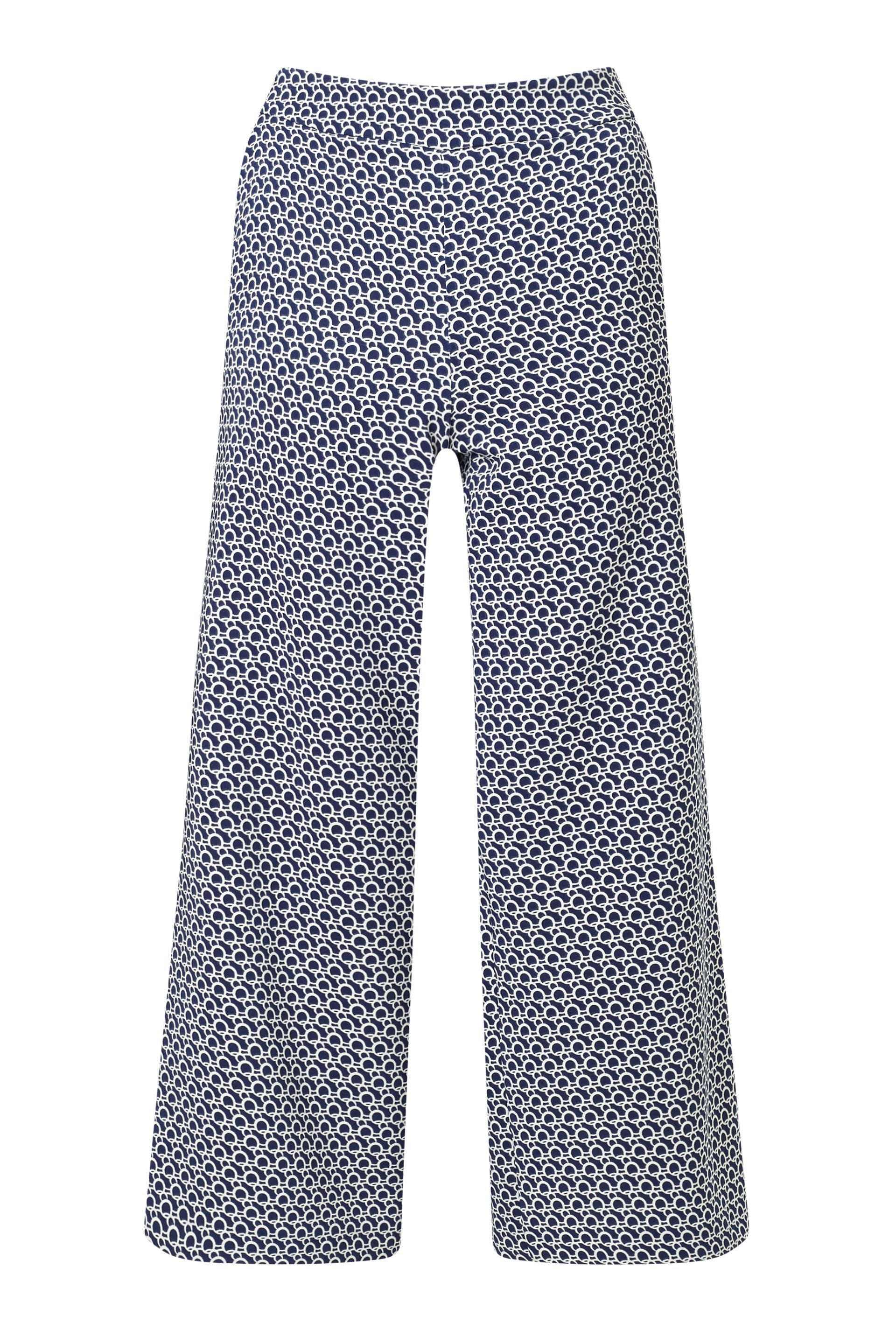 James Lakeland Print Wide Leg Culottes, Blue