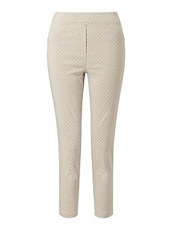 Cropped Patterened Trousers