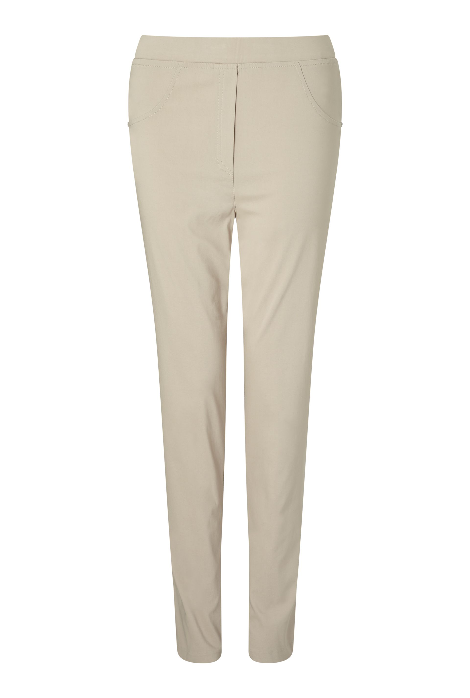 James Lakeland Long Length Bengalina Trouser, White