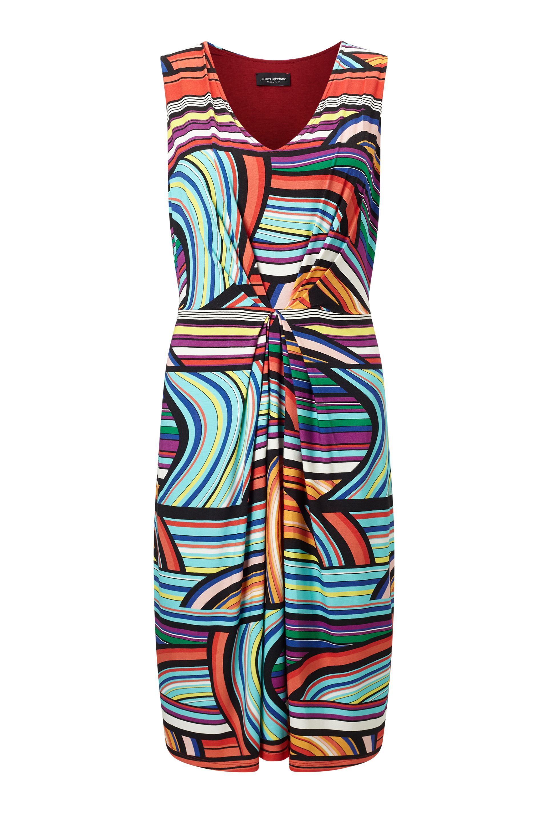 James Lakeland Stripe Print Dress, Multi-Coloured