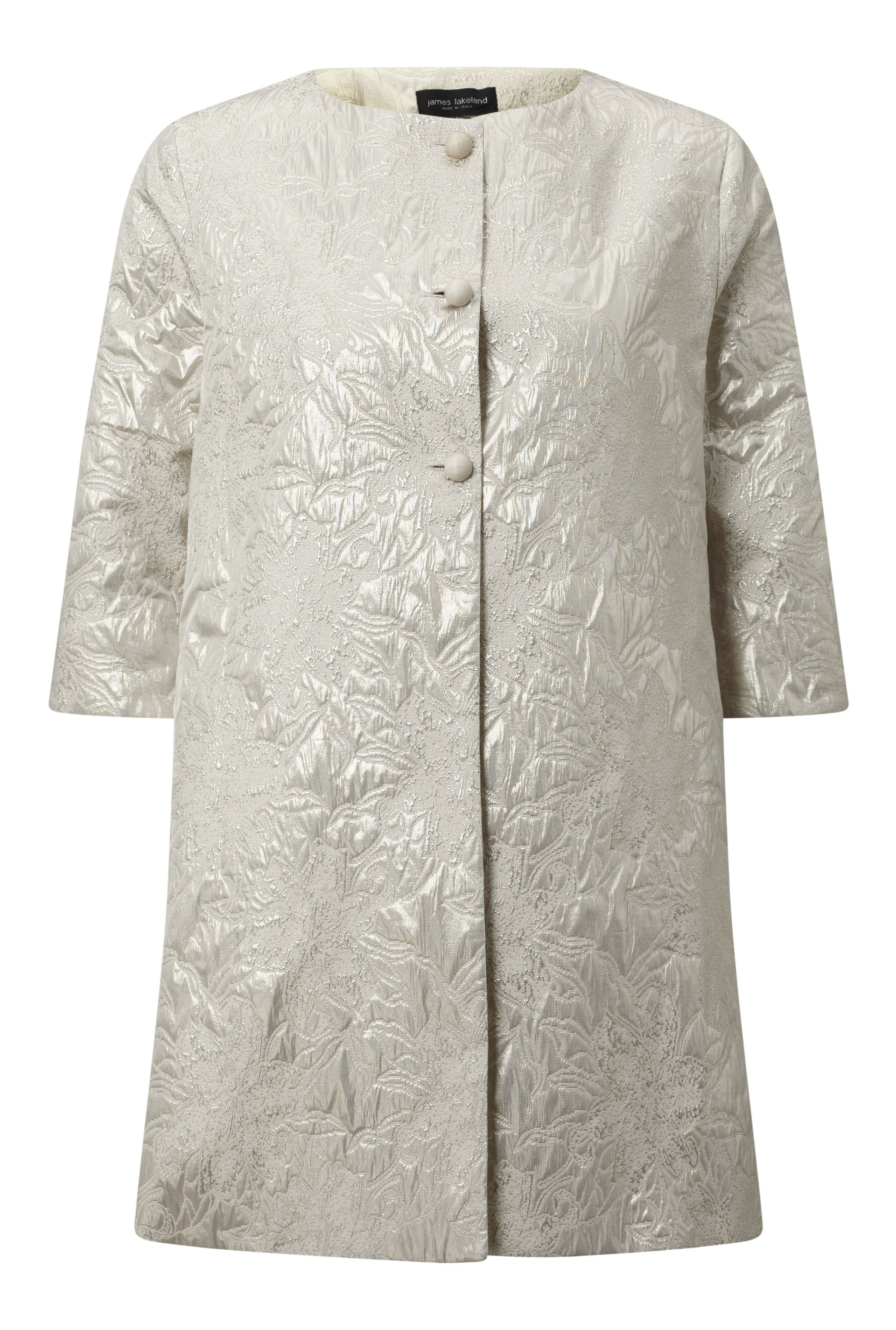 James Lakeland Shimmer Jacquard Jacket, White