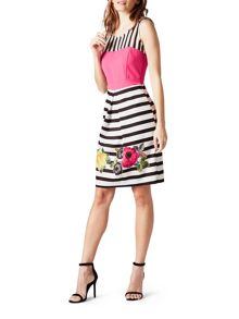 James Lakeland Stripe Floral Dress