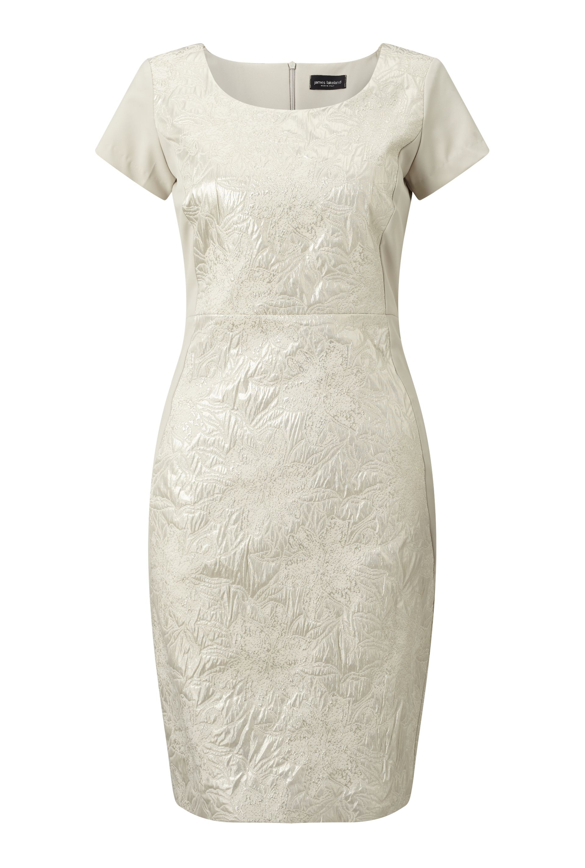 James Lakeland Shimmer Jacquard Dress, White