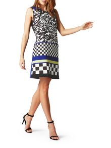 James Lakeland Neck Zip Print Dress