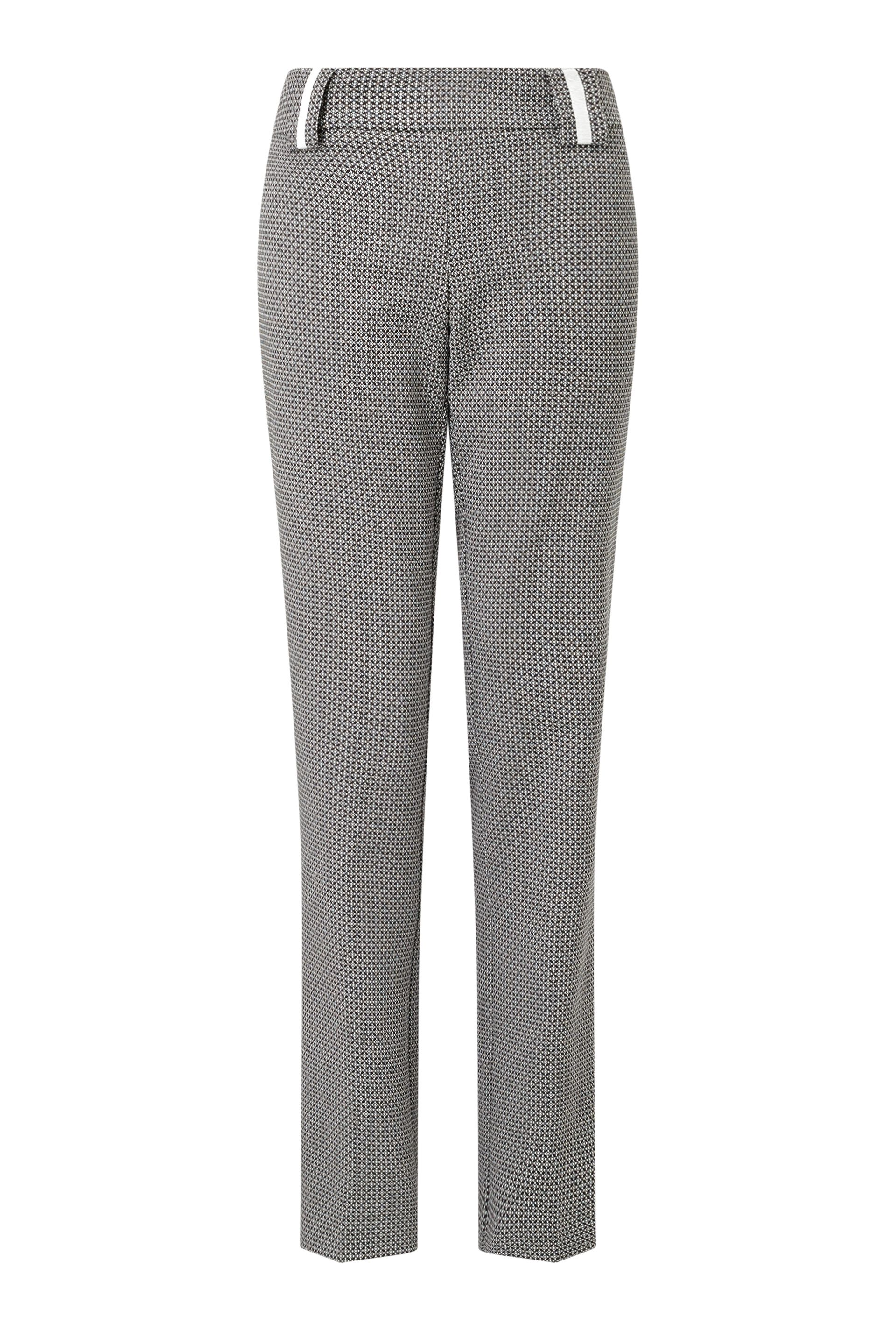James Lakeland Jacquard Suit Trousers, Black