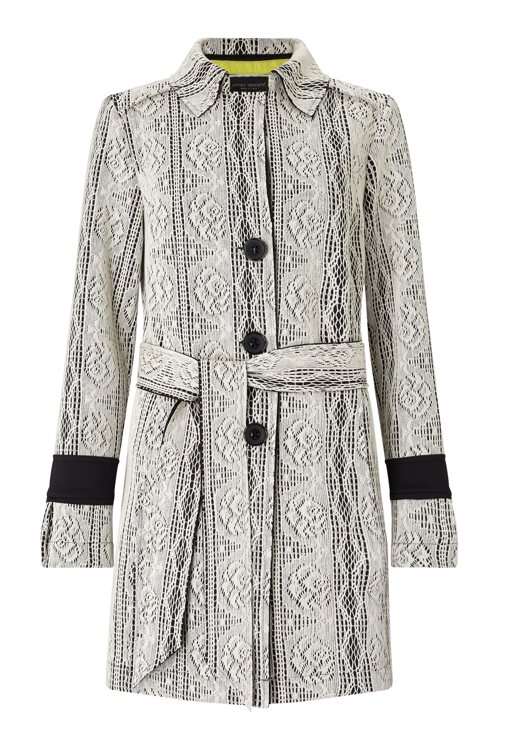 James Lakeland Lace Trench, Black