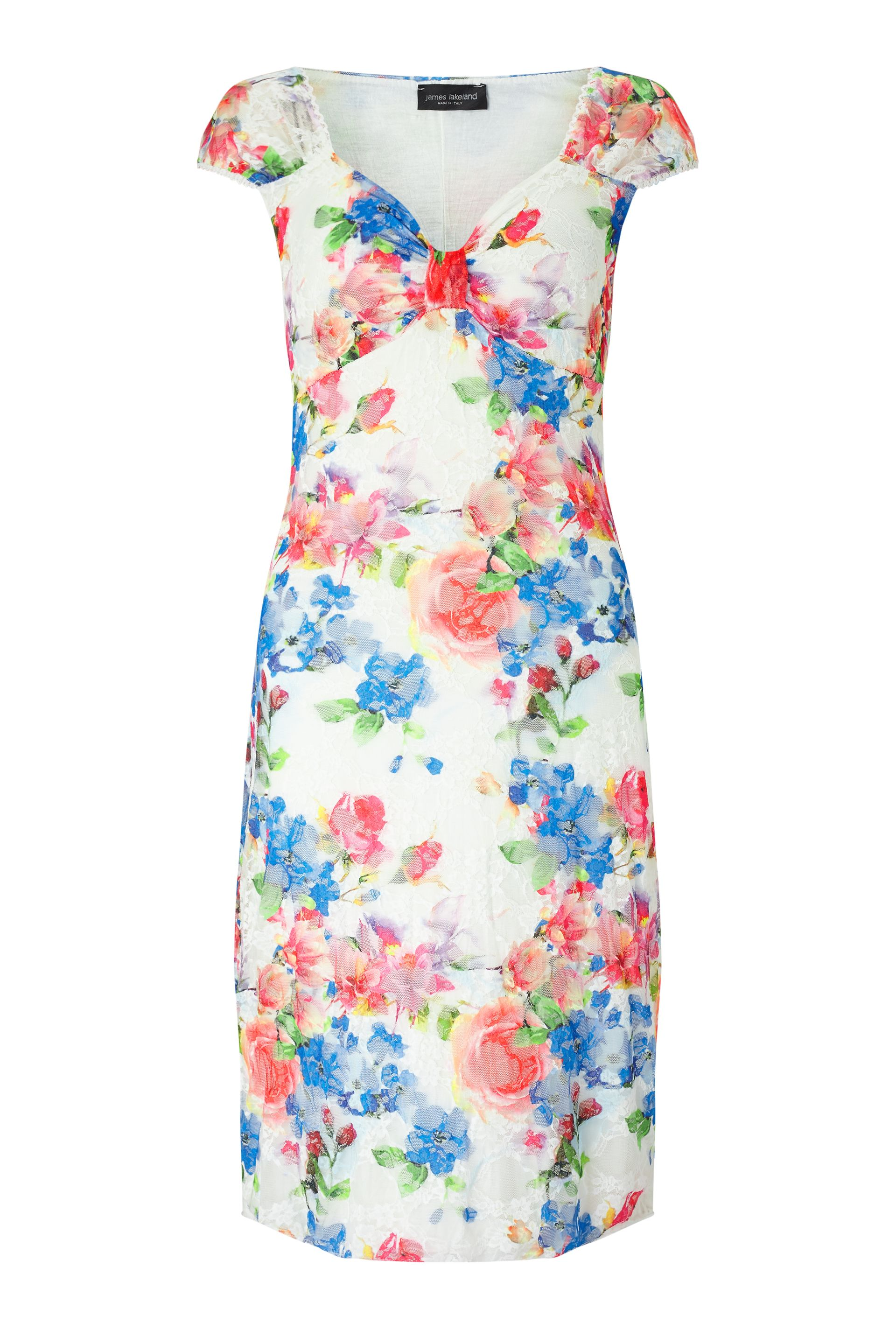 James Lakeland Floral Lace Dress, Multi-Coloured