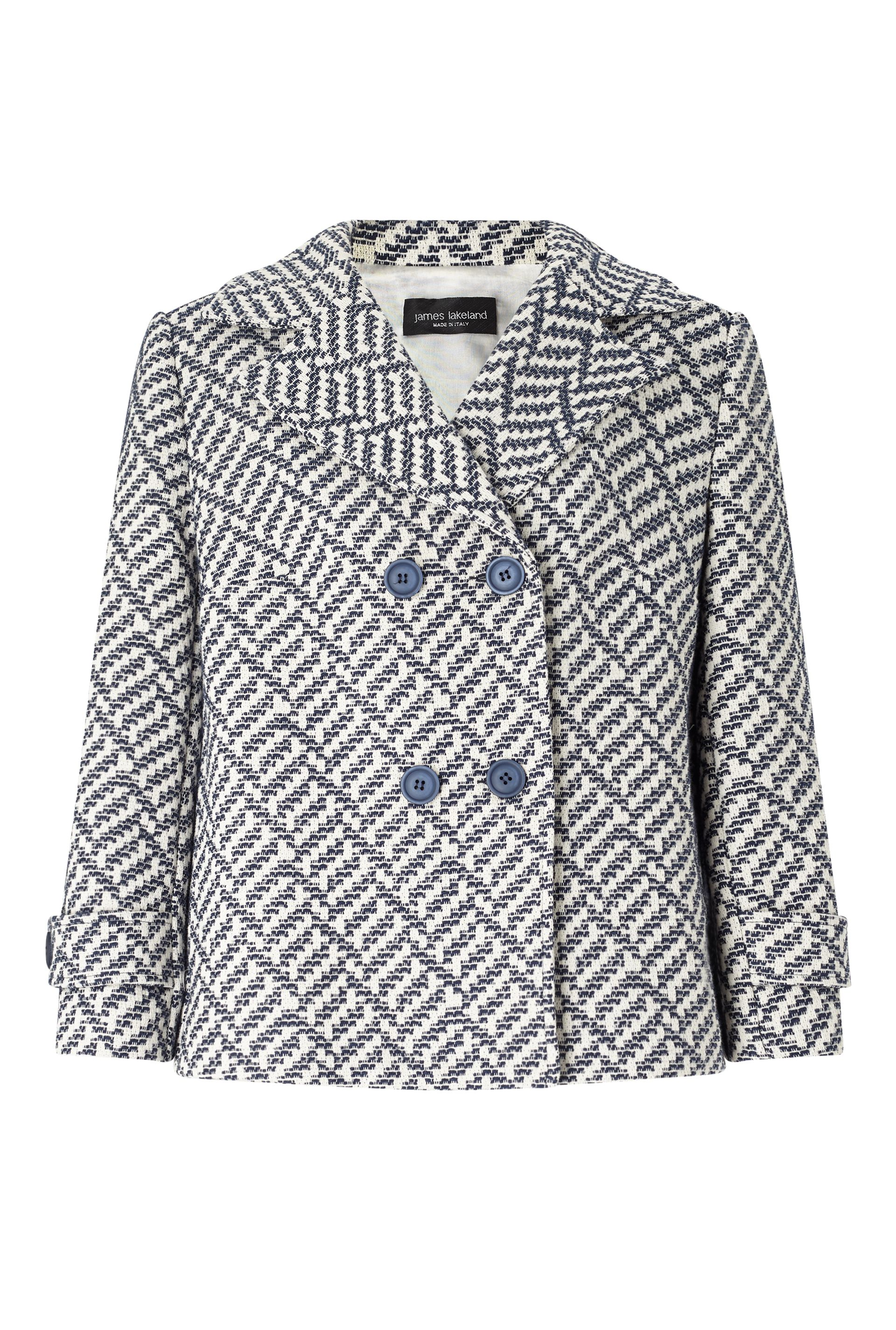 James Lakeland Double Breasted Jacket, White