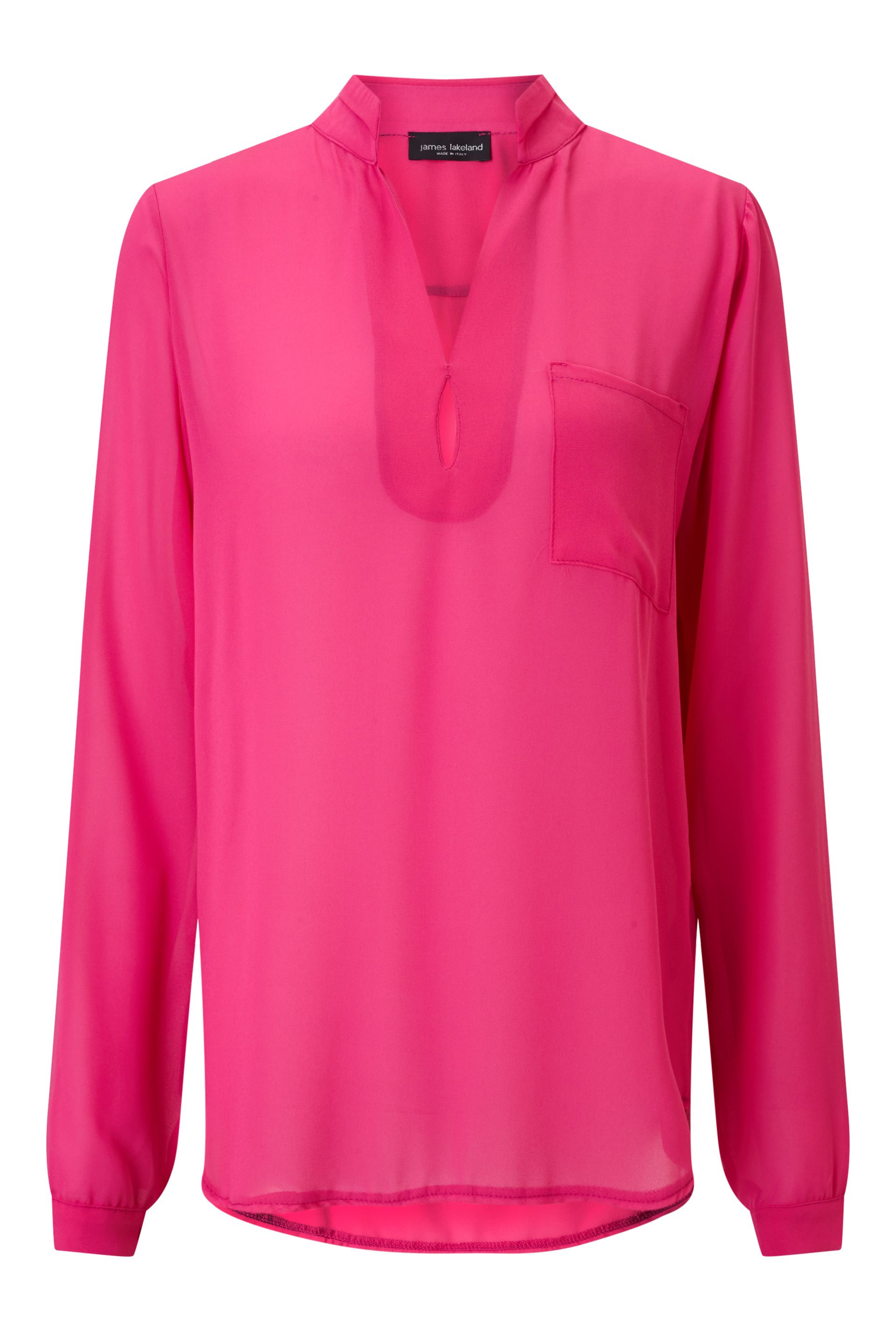 James Lakeland Long Sleeve Pockets Blouse, Pink