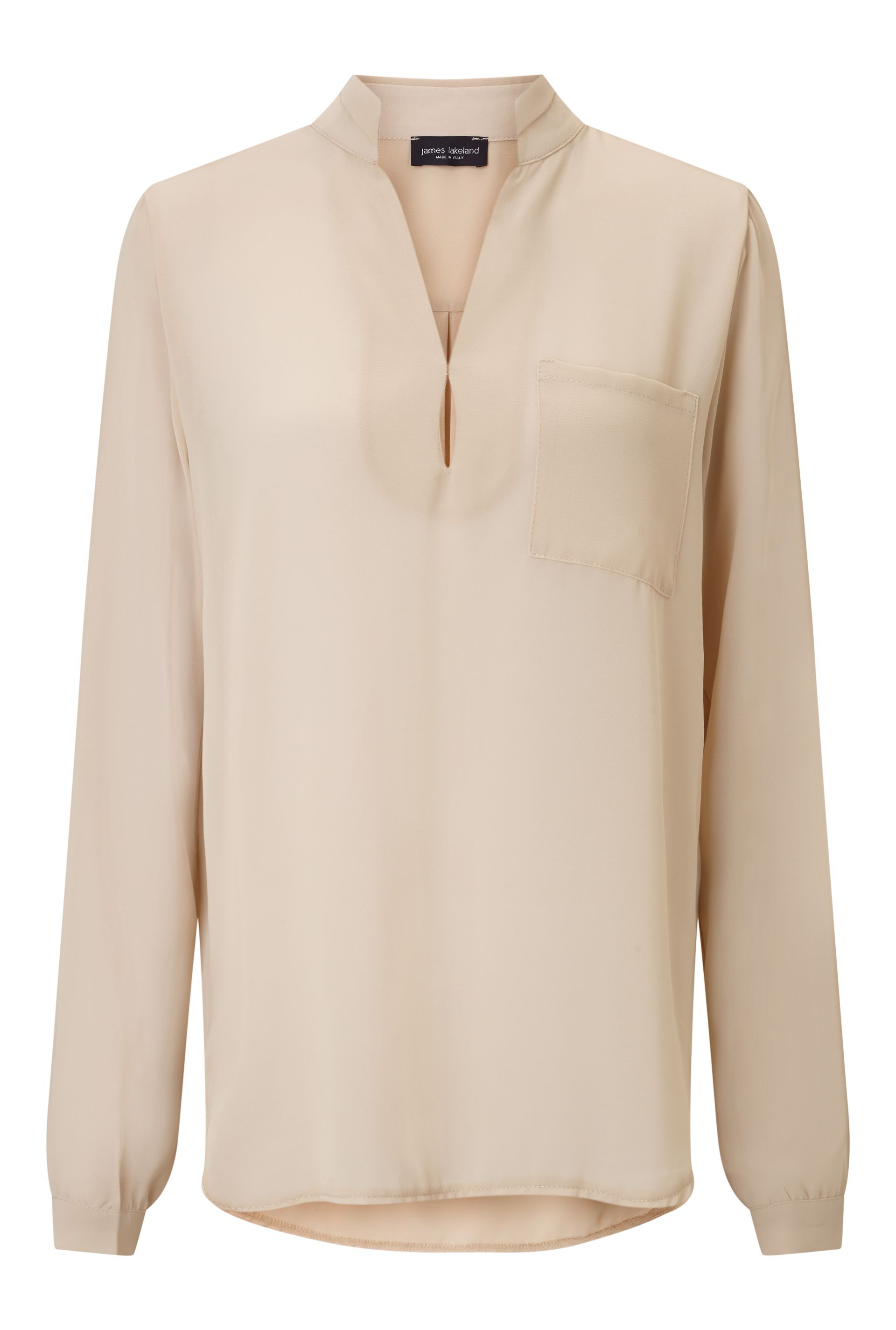 James Lakeland Long Sleeve Pockets Blouse, White