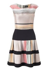 James Lakeland Stripe Fit And Flare Dress