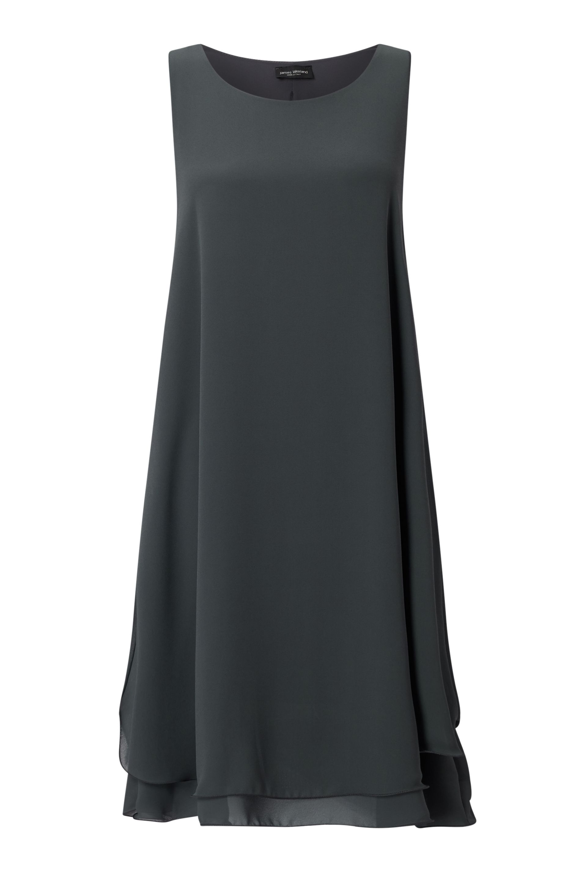 James Lakeland Sleeveless Wave Hem Dress, Charcoal