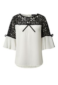 James Lakeland Lace Detail Top