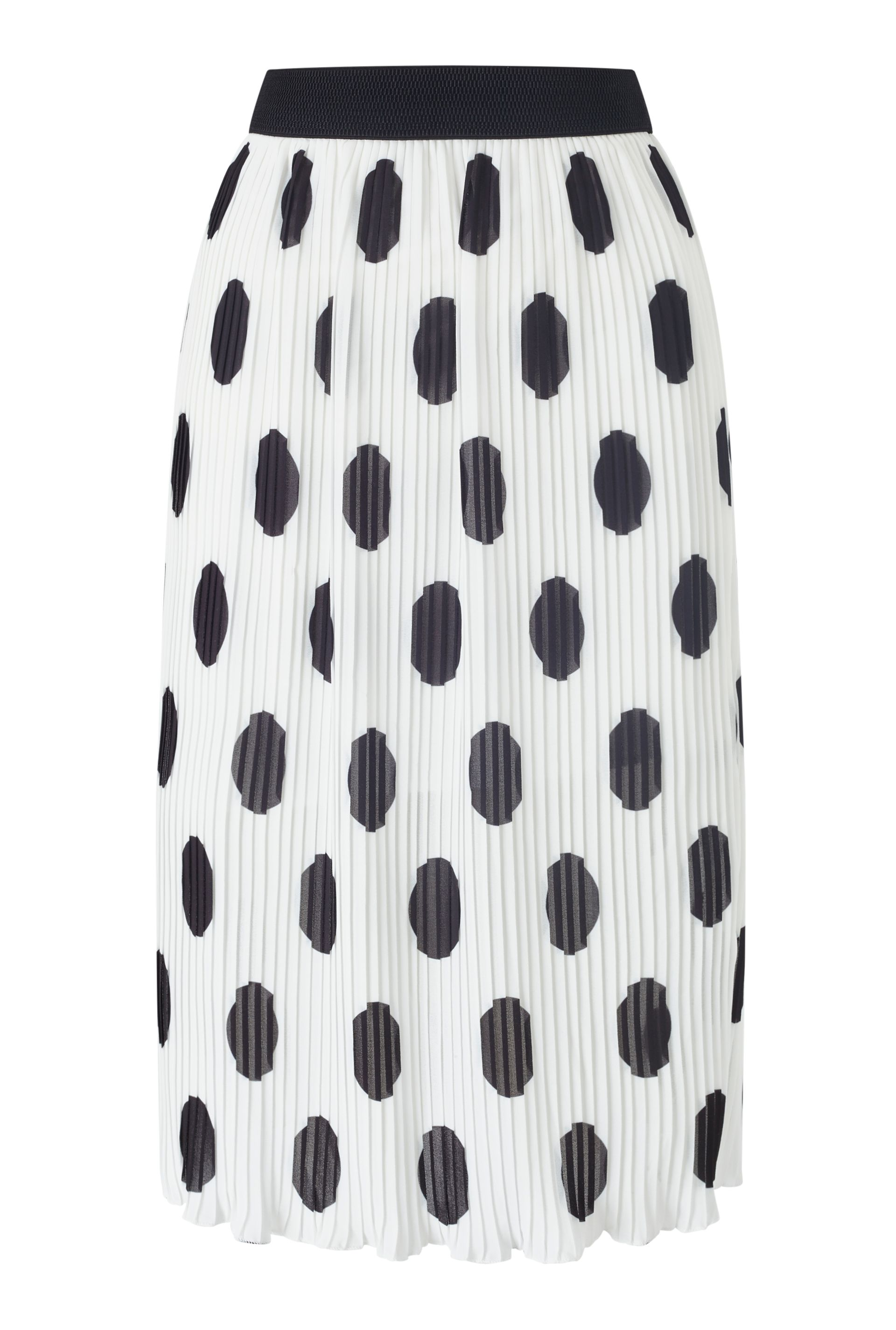 James Lakeland Polka Dot Skirt, White