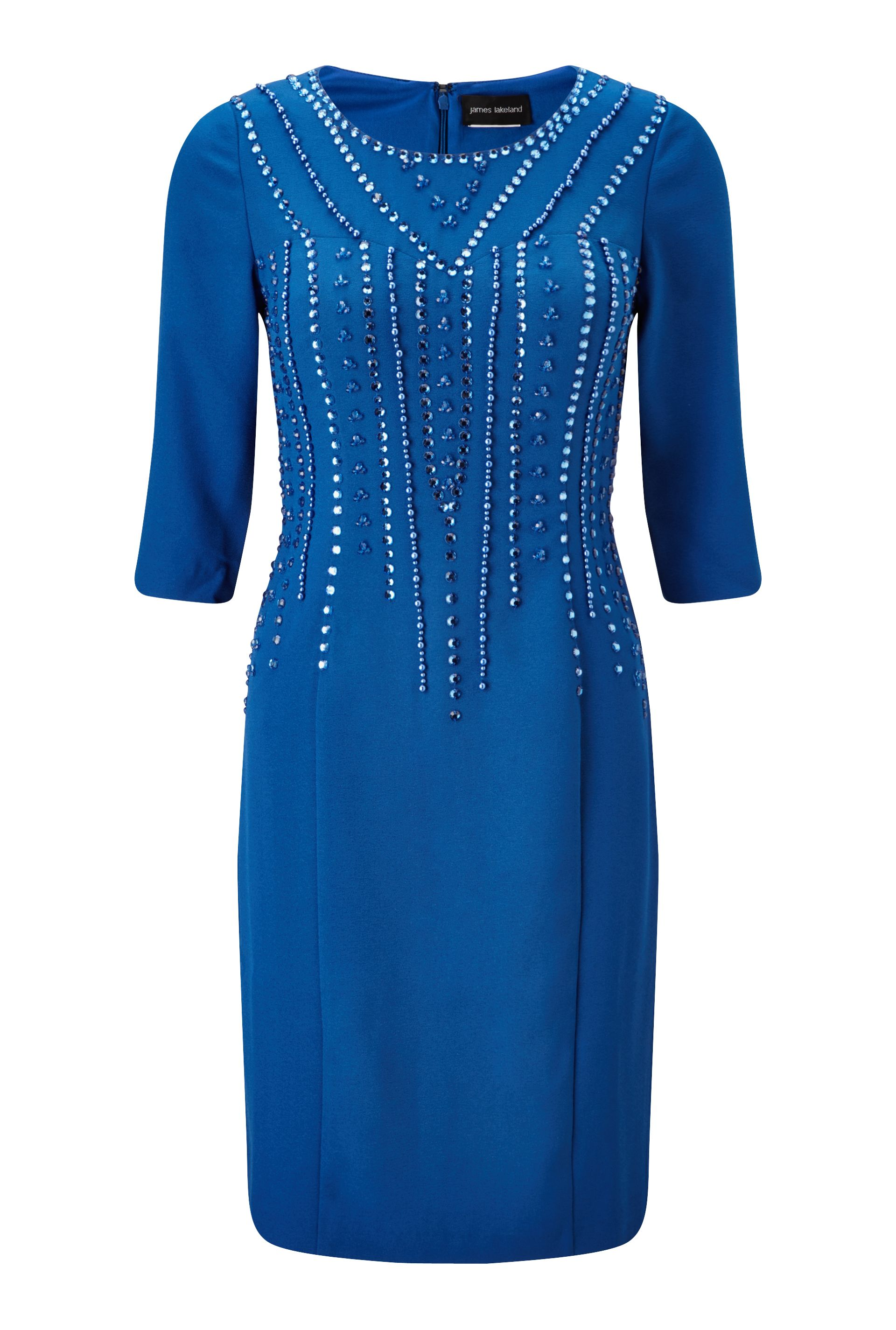 James Lakeland Beaded Dress, Blue