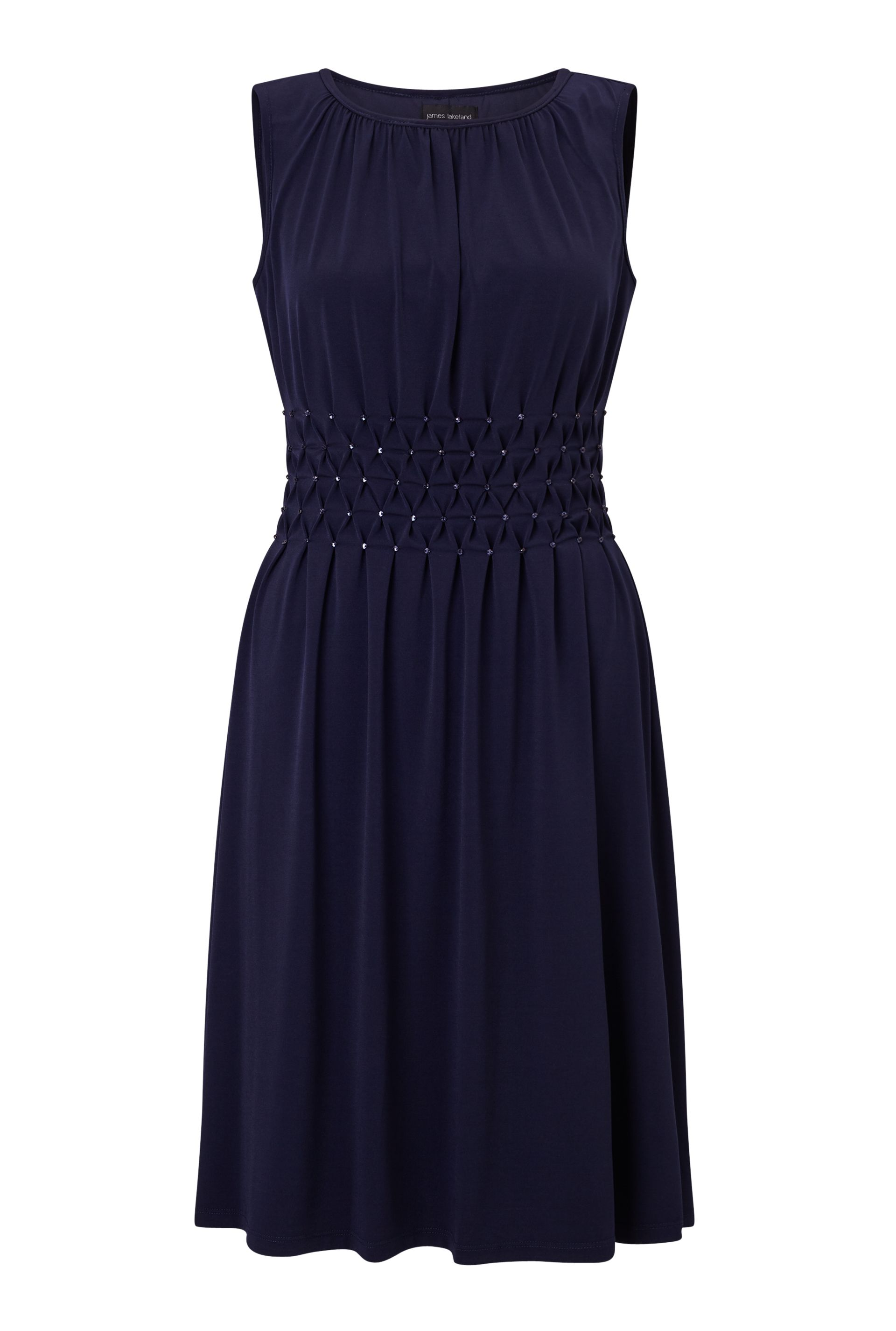 James Lakeland Sleeveless Diamantes Dress, Blue