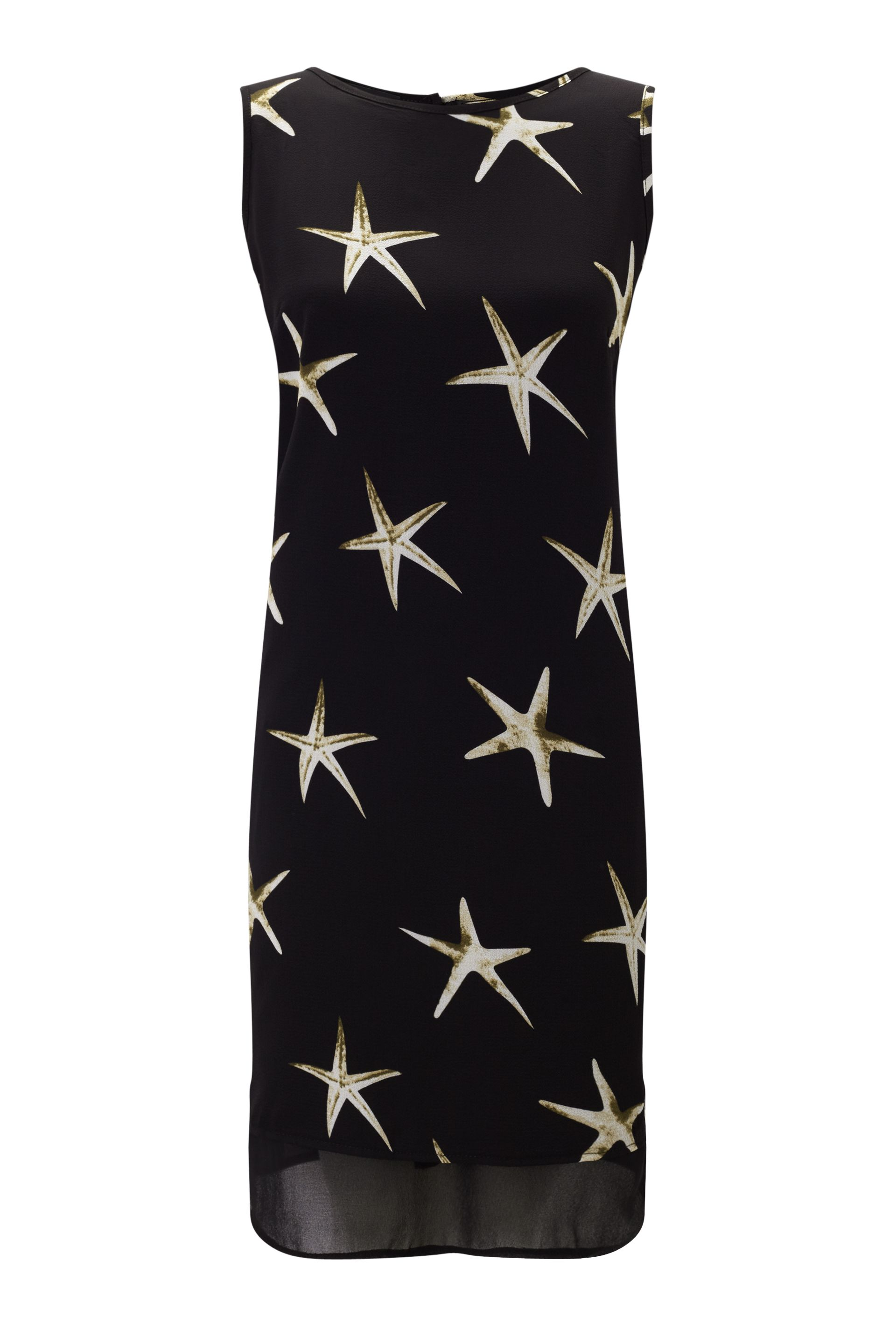 James Lakeland Starfish Print Dress, Black