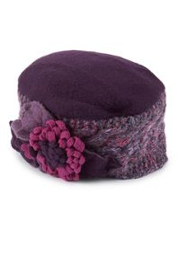 James Lakeland Lambswool Handknit Flower Beret