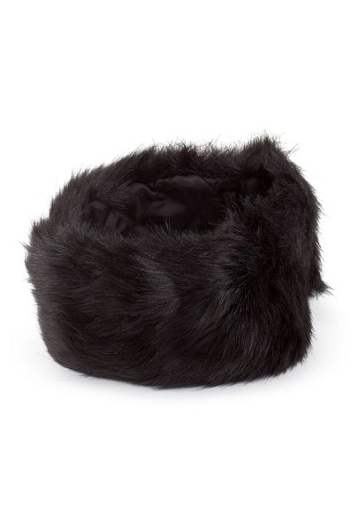 James Lakeland Faux Fur Headband With Quilted Lining