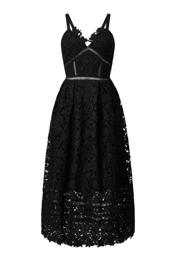 James Lakeland Midi Lace Dress, Black
