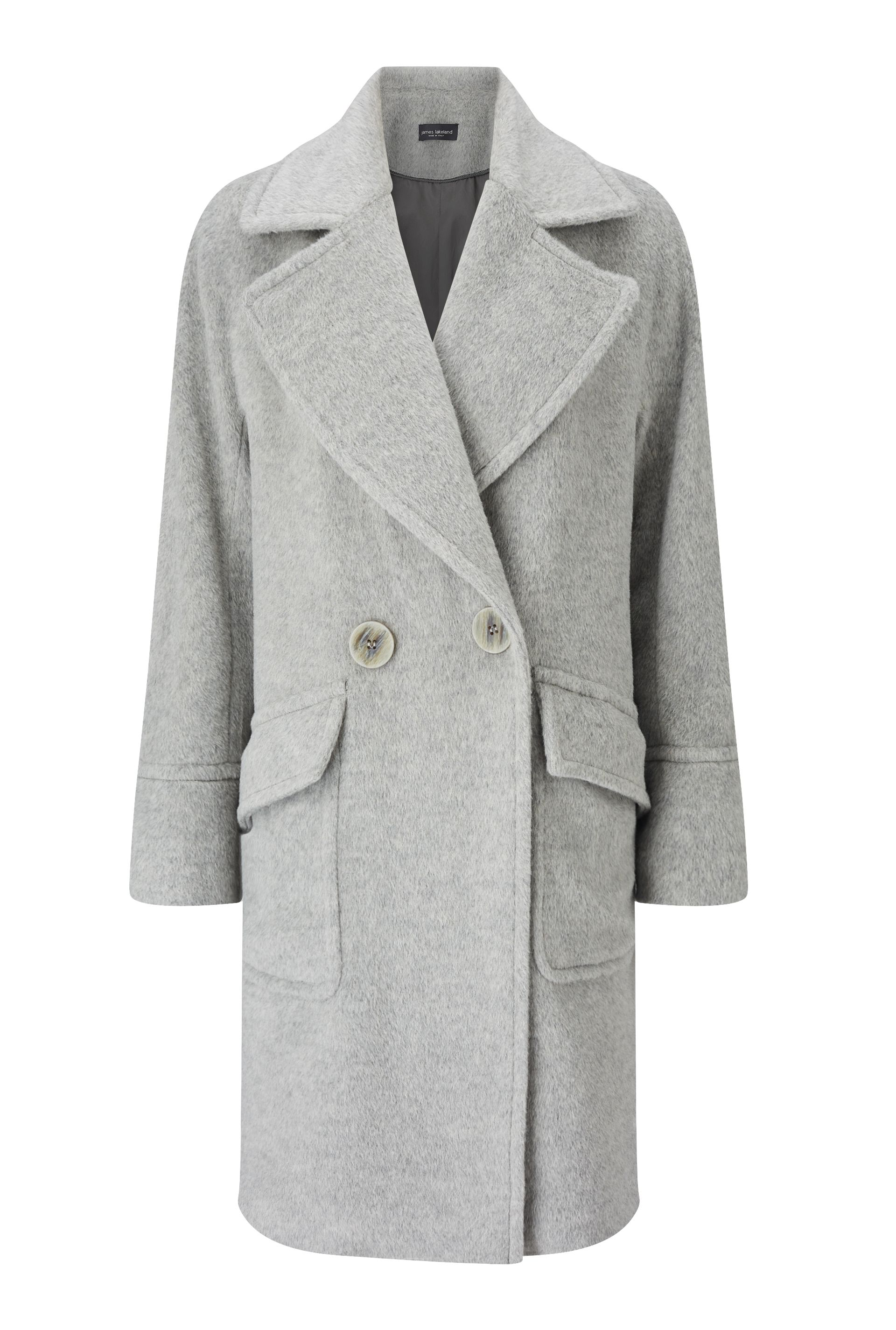 James Lakeland Drop Shoulder Coat Grey