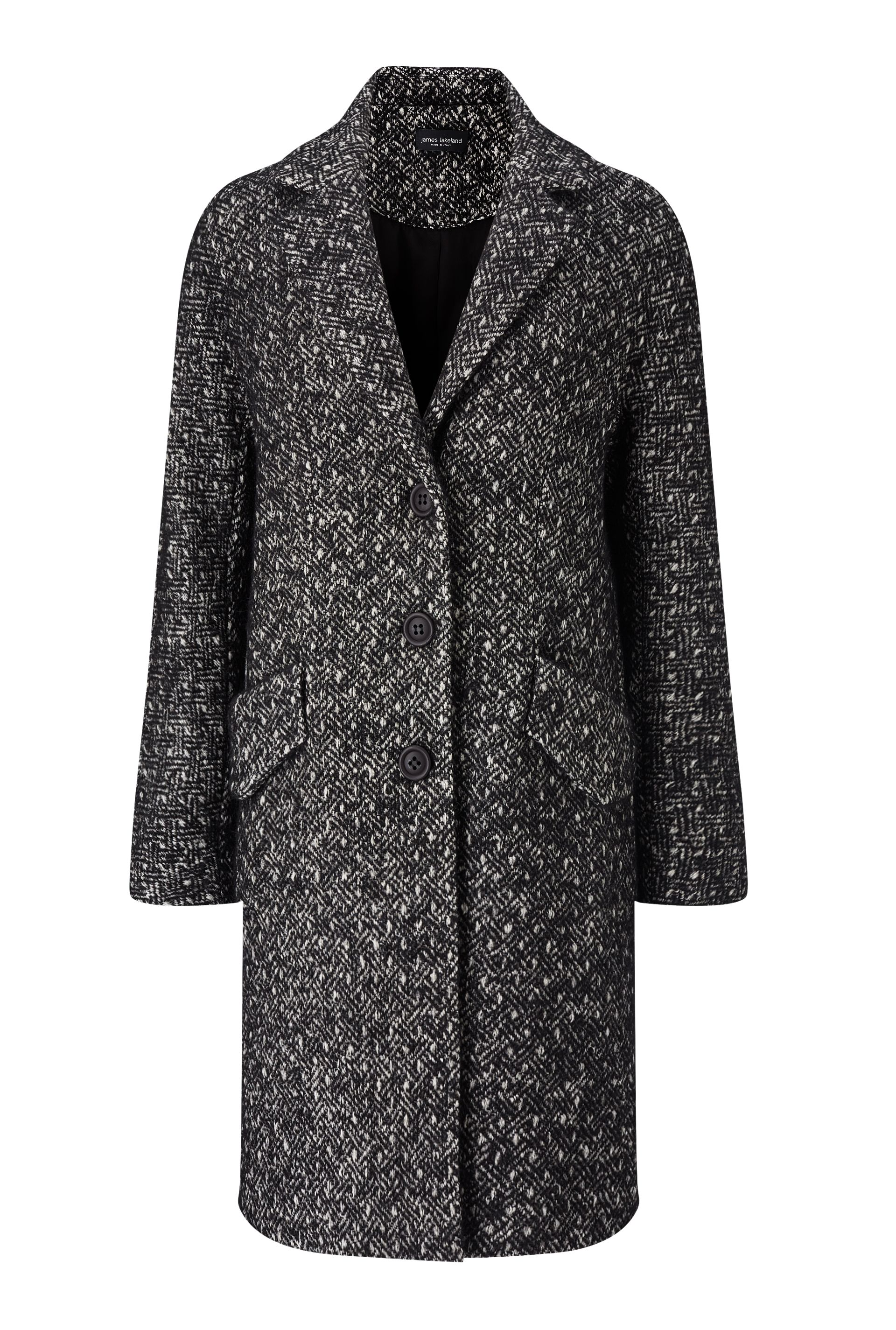James Lakeland Drop Shoulder Coat Black