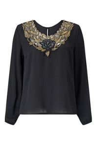 James Lakeland Floral Neck Top