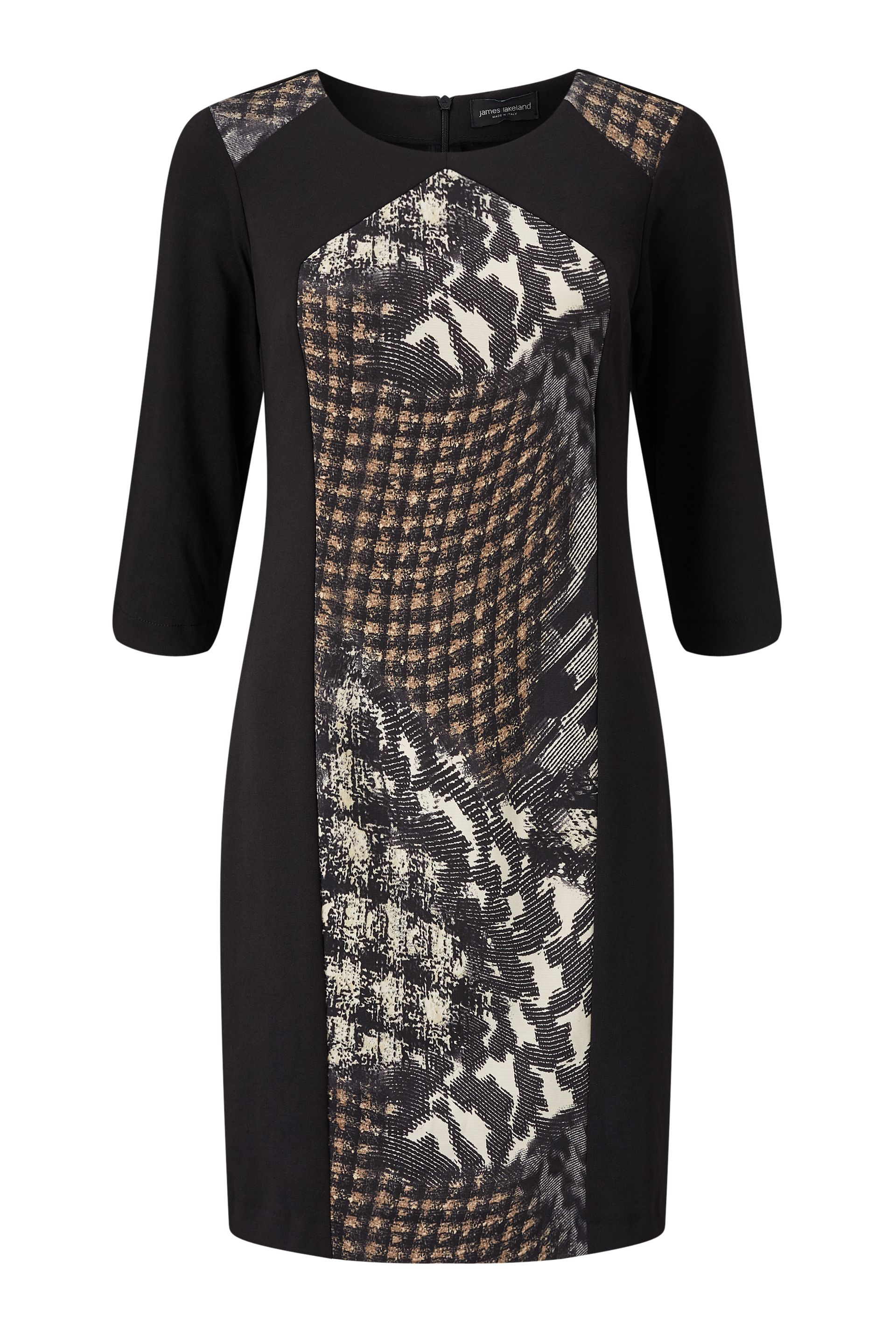 James Lakeland Central Print Dress, Black