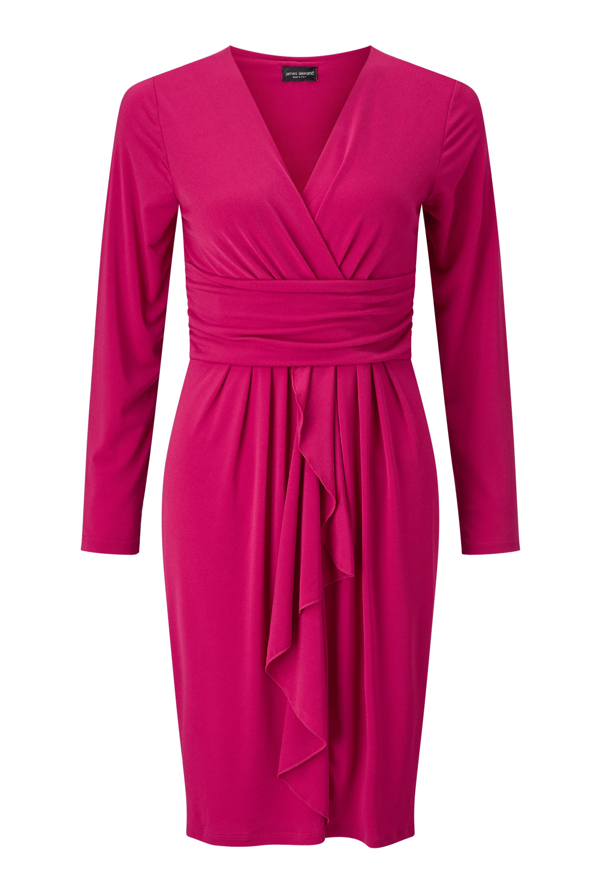 James Lakeland Dress With Ruffle, Wine