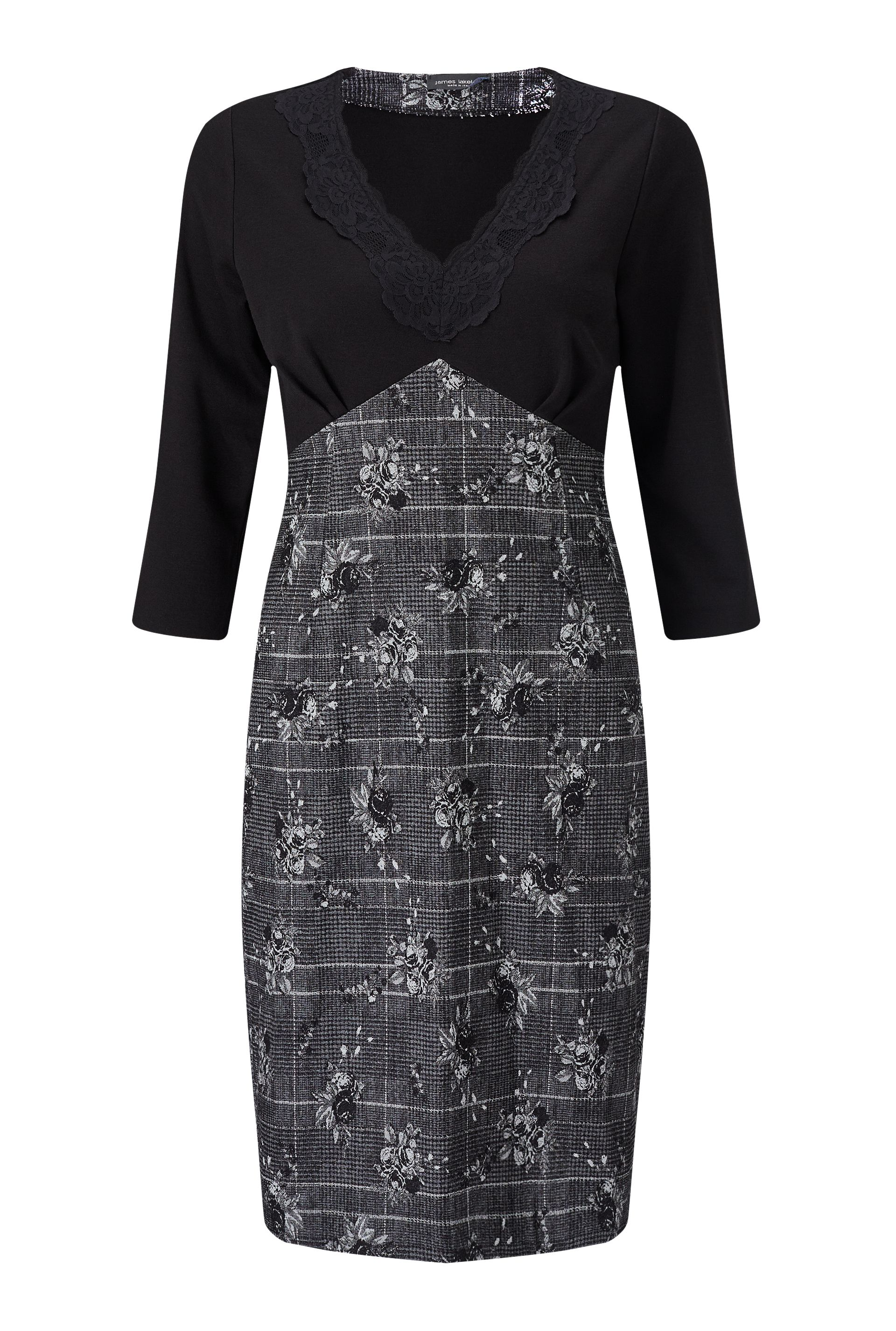 James Lakeland Print Lace Dress, Black