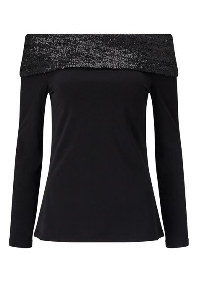 James Lakeland Off The Shoulder Sequin Top