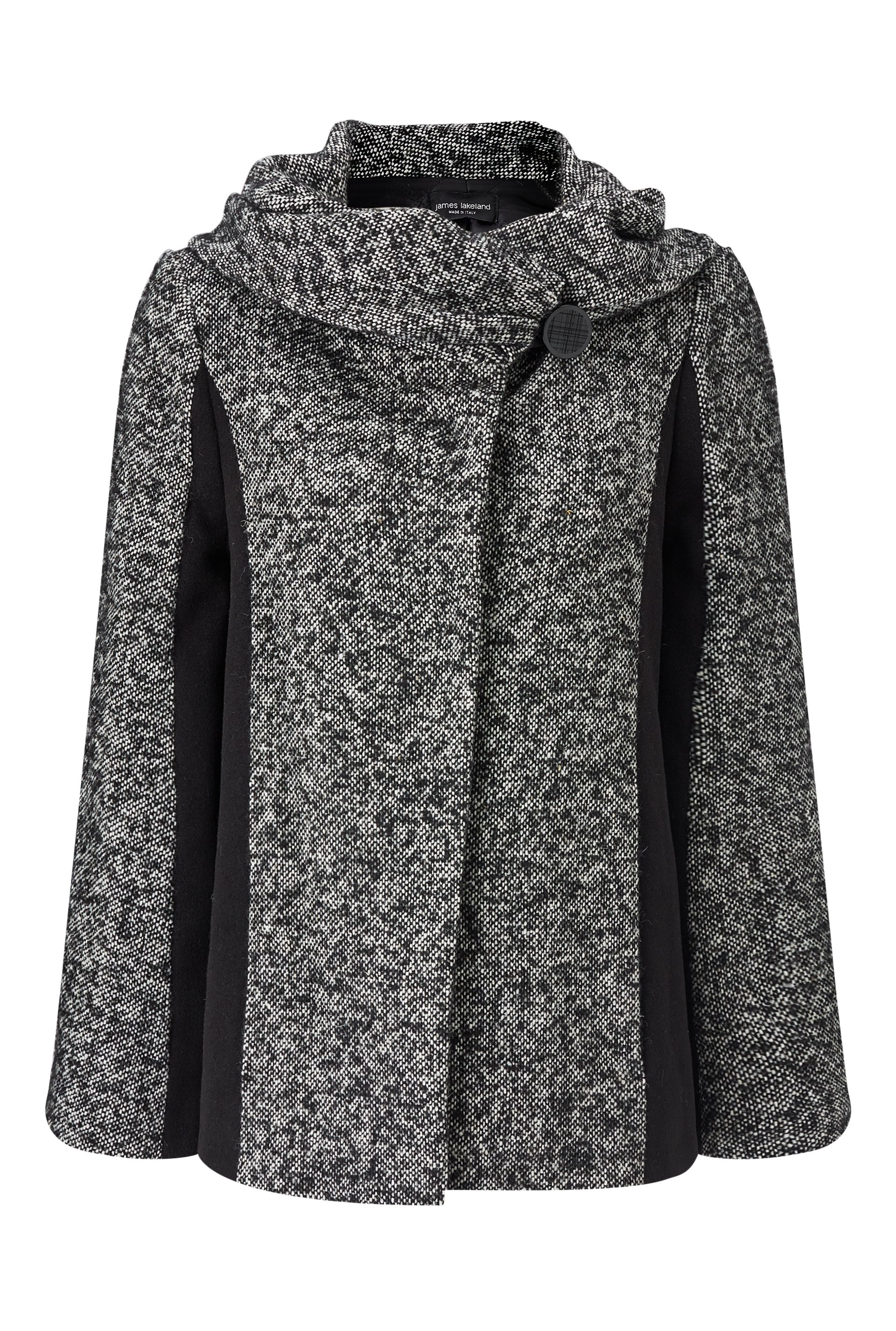 James Lakeland Salt And Pepper Coat, White