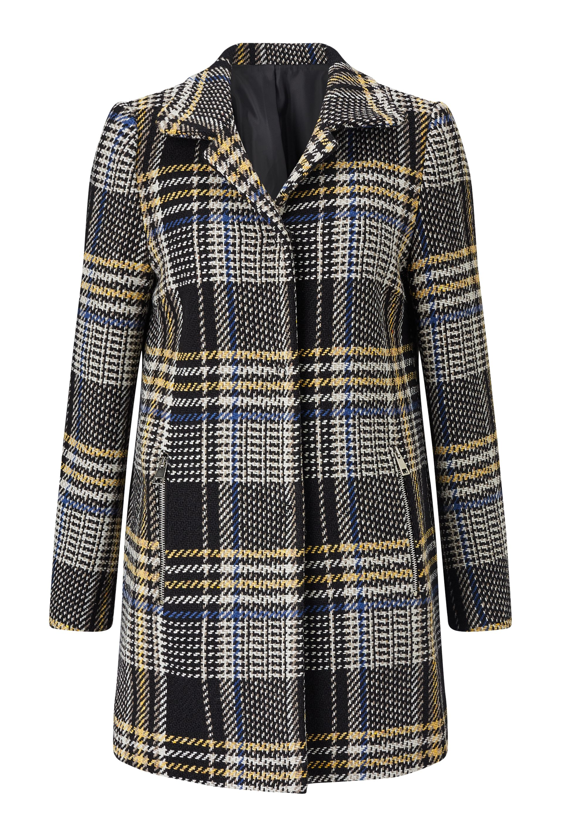 James Lakeland Check Tweed Coat, Multi-Coloured