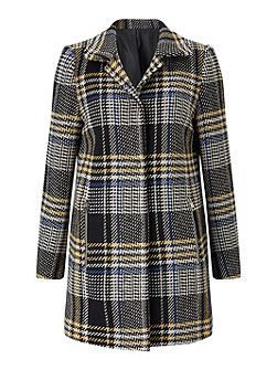 Check Tweed Coat