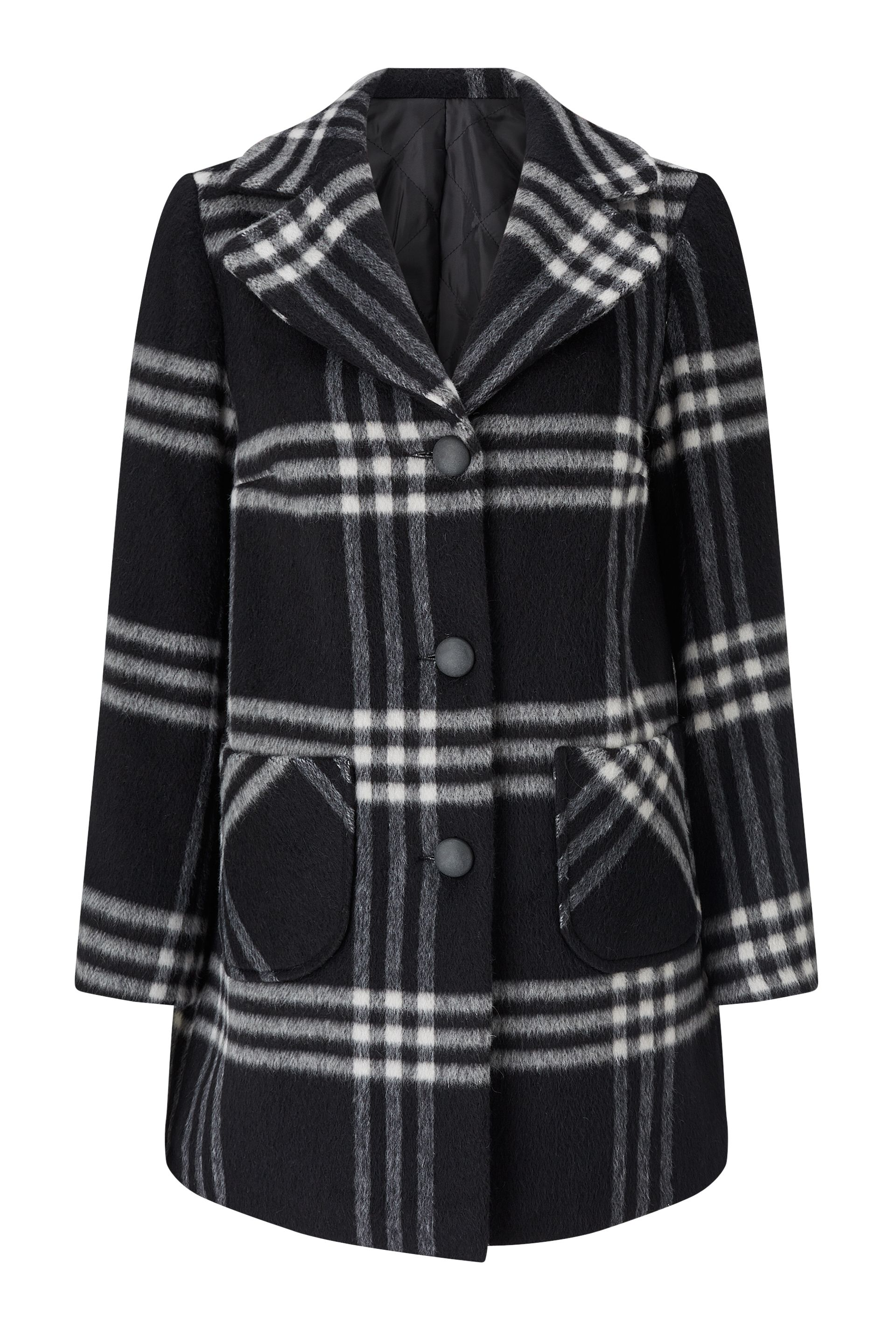 James Lakeland Check Wool Coat, Multi-Coloured