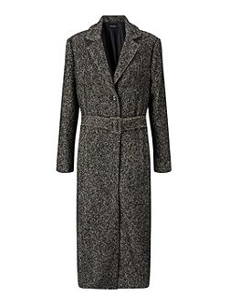 Long Salt And Pepper Coat
