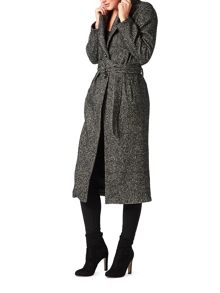 James Lakeland Long Salt And Pepper Coat