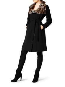 James Lakeland Leopard Collar Coat