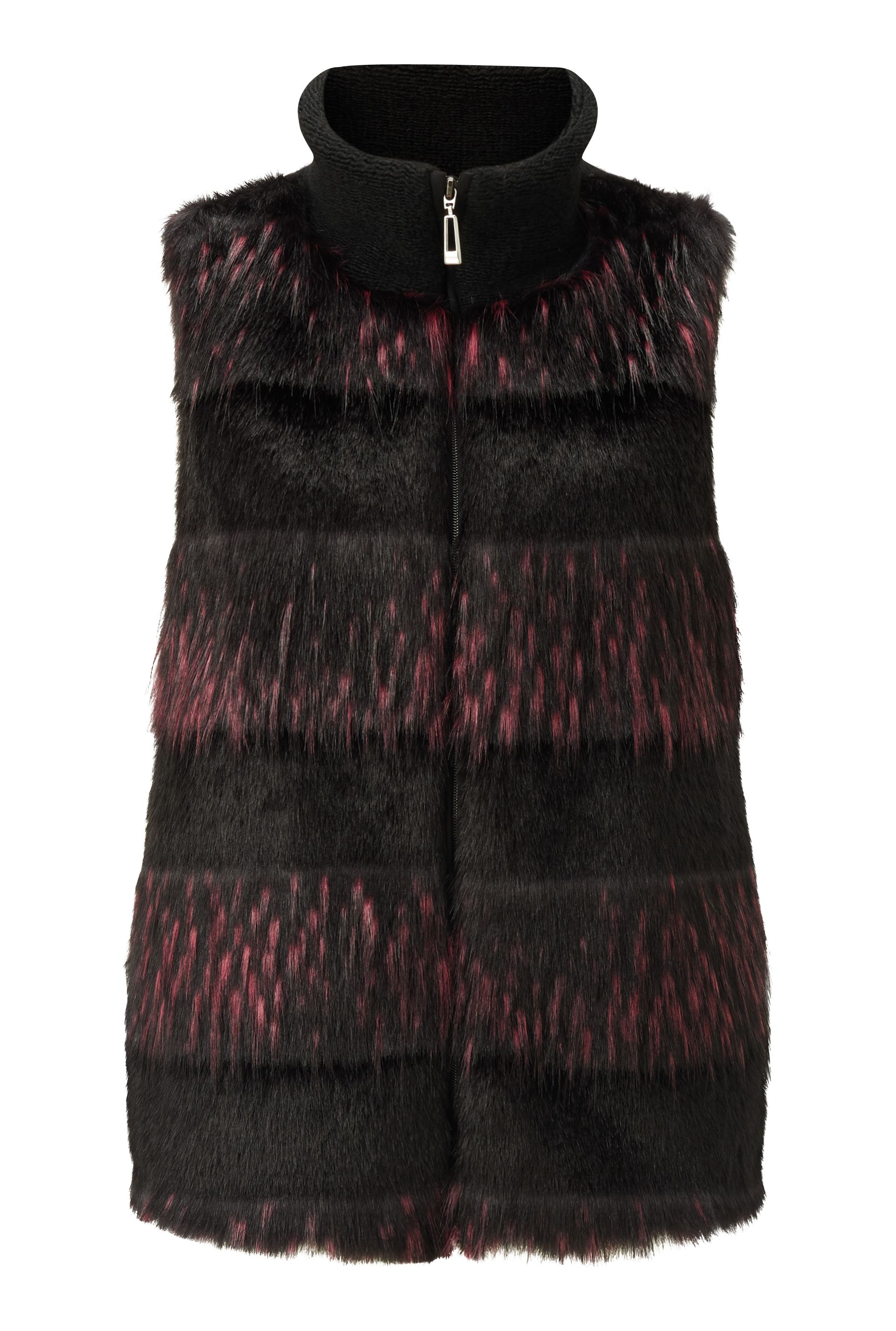James Lakeland Faux Fur Gilet, Black