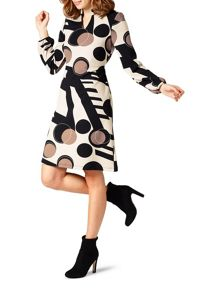 James Lakeland Printed V Neck Dress