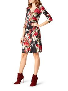 James Lakeland Rose Print Dress