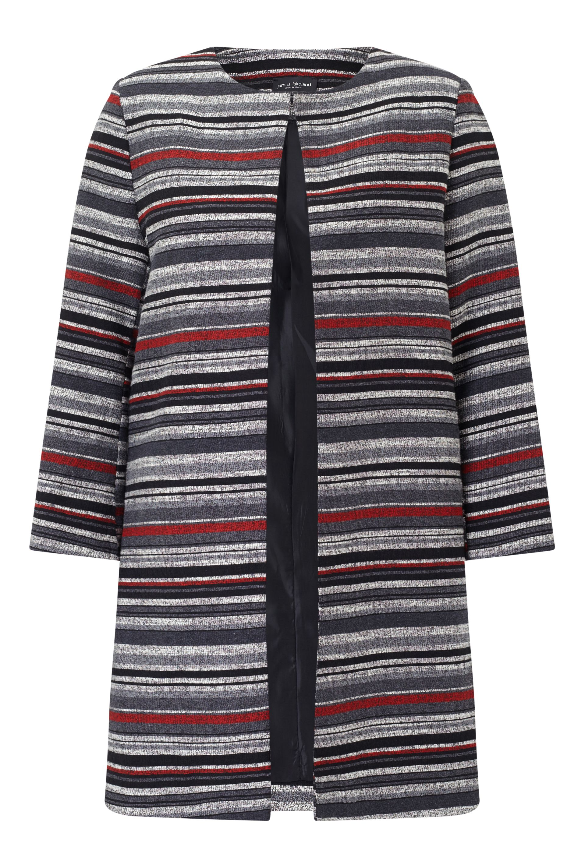 James Lakeland Stripe Jacket, Red