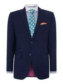 Check Peak Collar Tailored Fit Suit