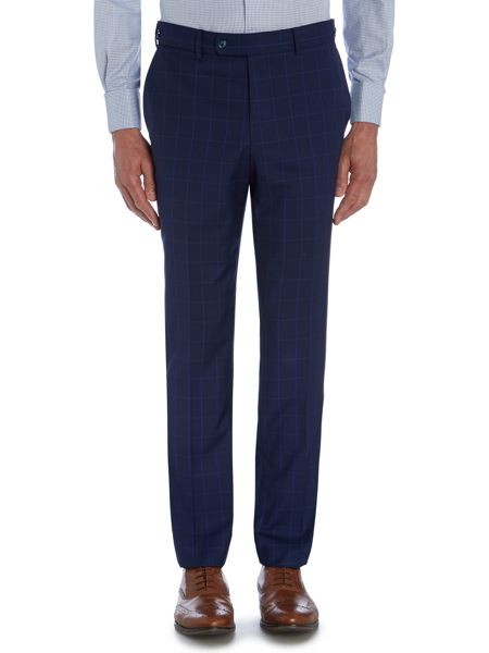 Without Prejudice Check Peak Collar Tailored Fit Suit