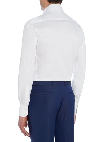 Without Prejudice Plain Tailored Fit Cutaway Collar Shirt