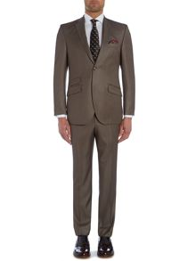 Herringbone Notch Collar Tailored Fit Suit