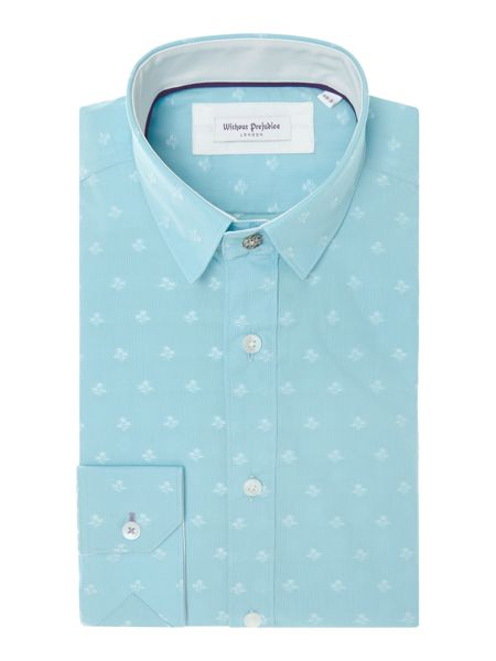 Without Prejudice Floral Tailored Fit Button Down Shirt