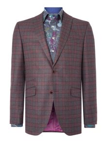 Without Prejudice Grey Check Wool Blazer