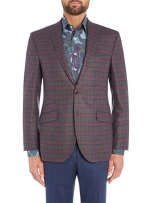 Grey Check Wool Blazer