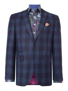 Without Prejudice Blue Check Wool Blazer